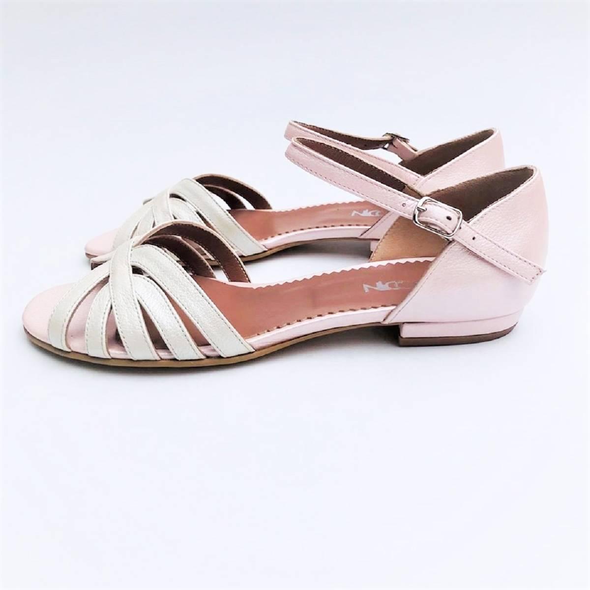 Sandale dama din piele naturala, Ada , nude roze